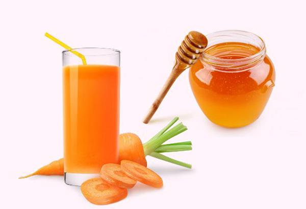 Морковный сок и мед