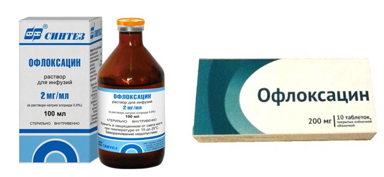 Форма выпуска офлоксацина